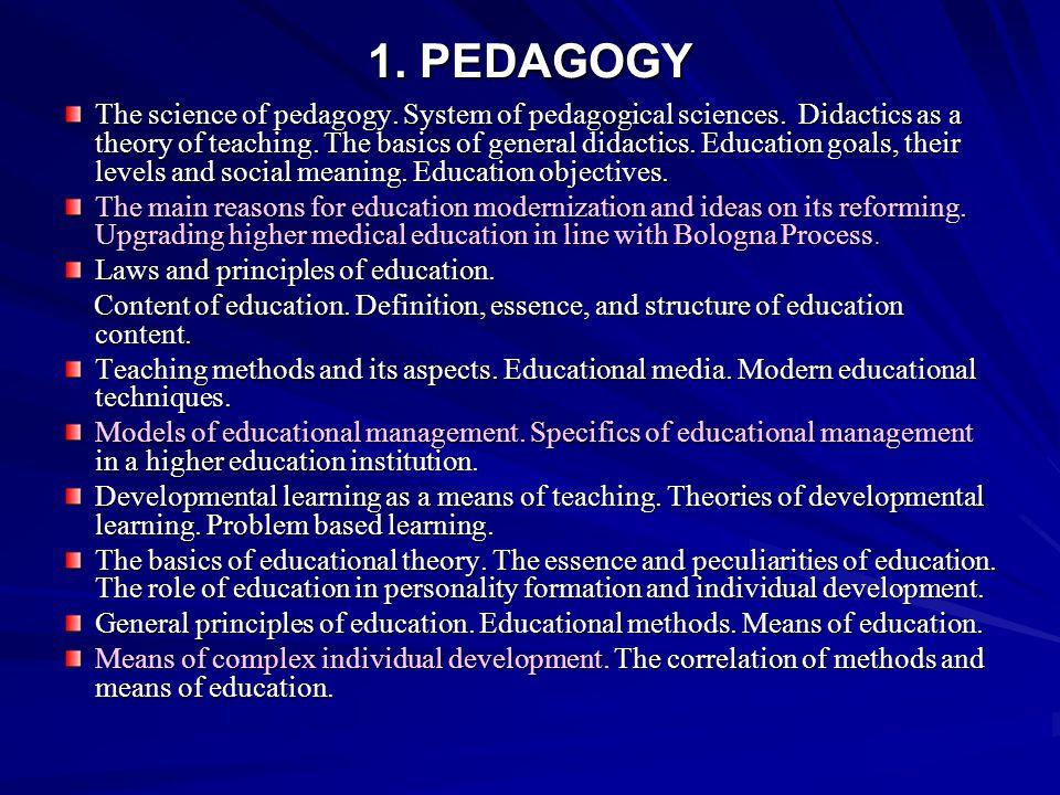 1. PEDAGOGY