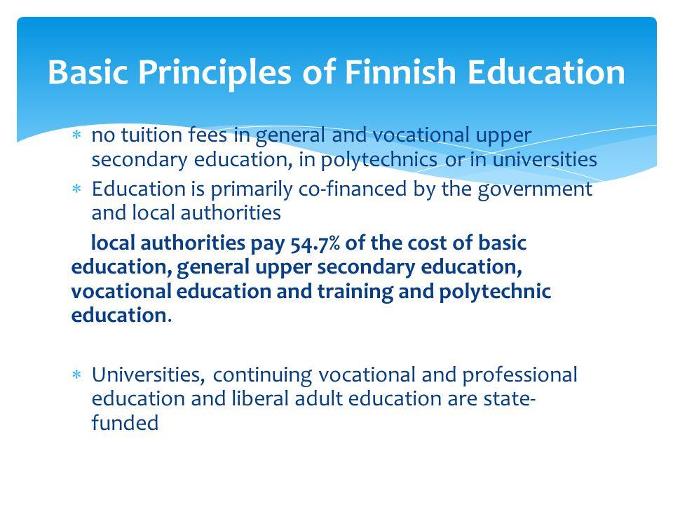Basic Principles of Finnish Education
