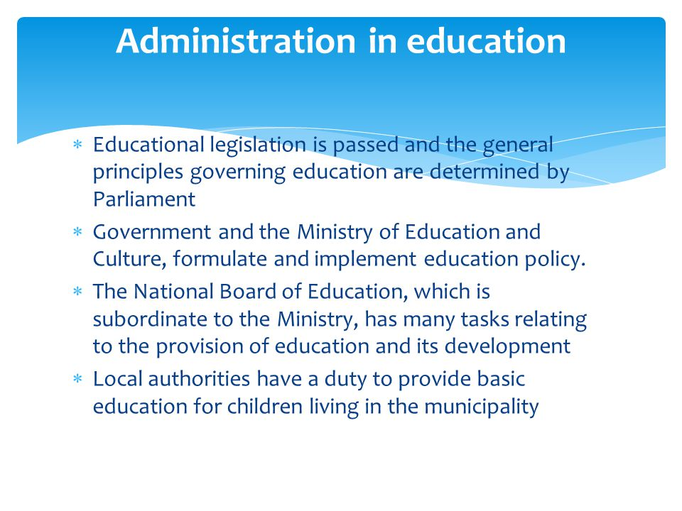 Administration in education