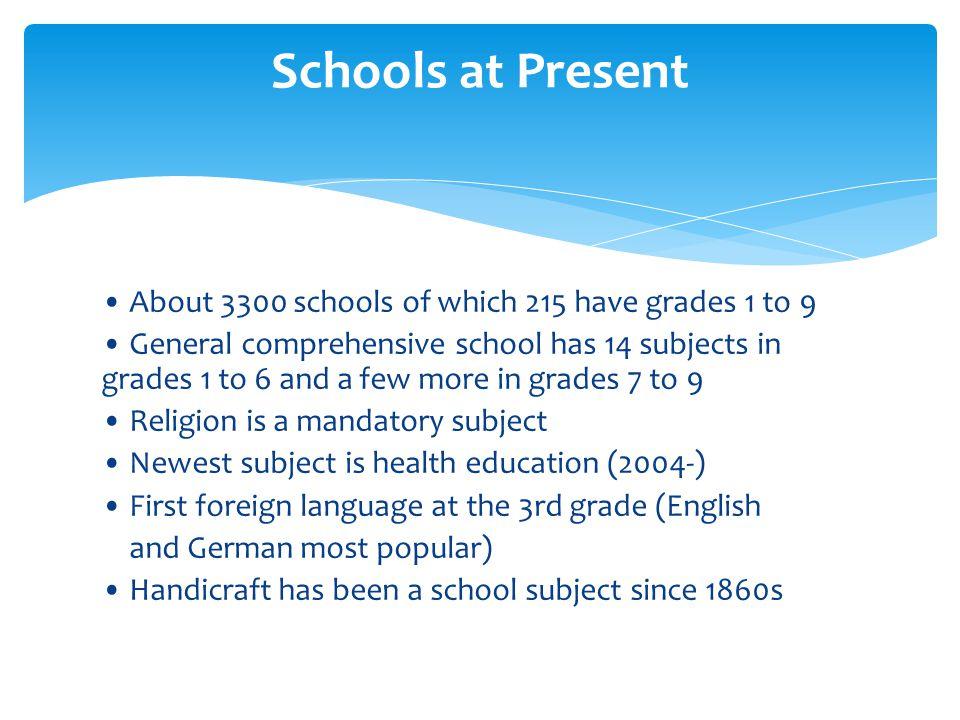 Schools at Present