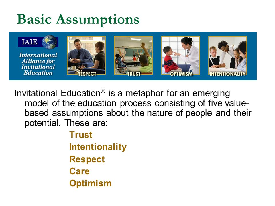 The Basic Assumptions of Invitational Education