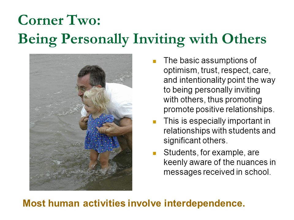 Corner Two: Being Personally Inviting with Others