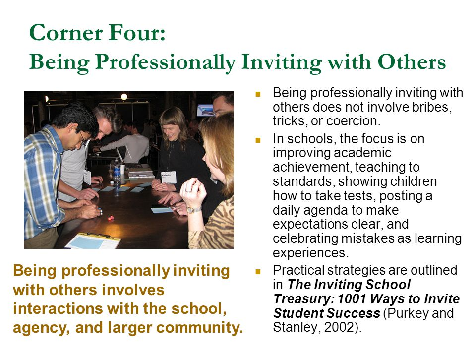 Corner Four: Being Professionally Inviting with Others