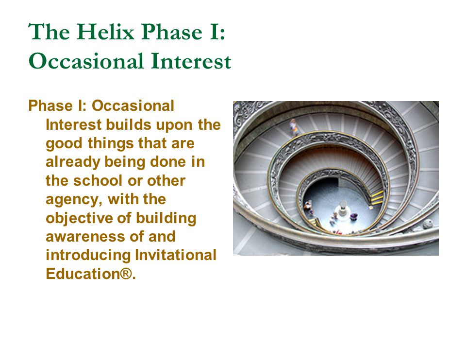 The Helix Phase I: Occasional Interest