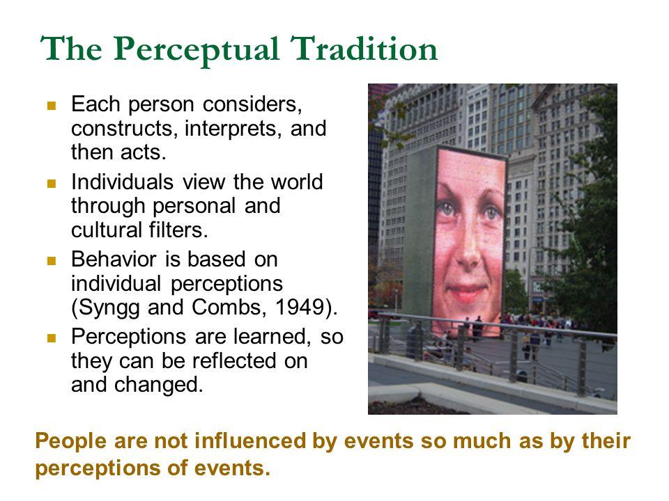 The Perceptual Tradition
