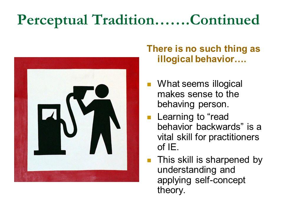 Perceptual Tradition…….Continued