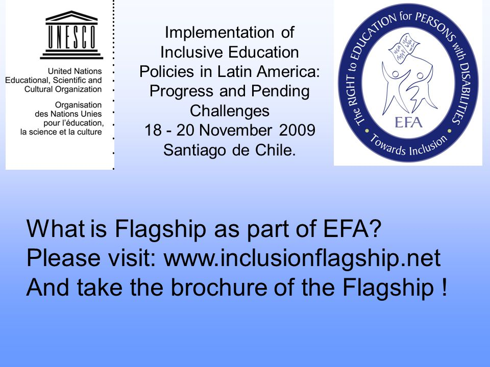 What is Flagship as part of EFA