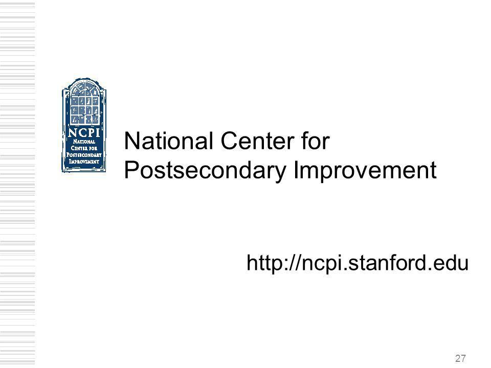 National Center for Postsecondary Improvement