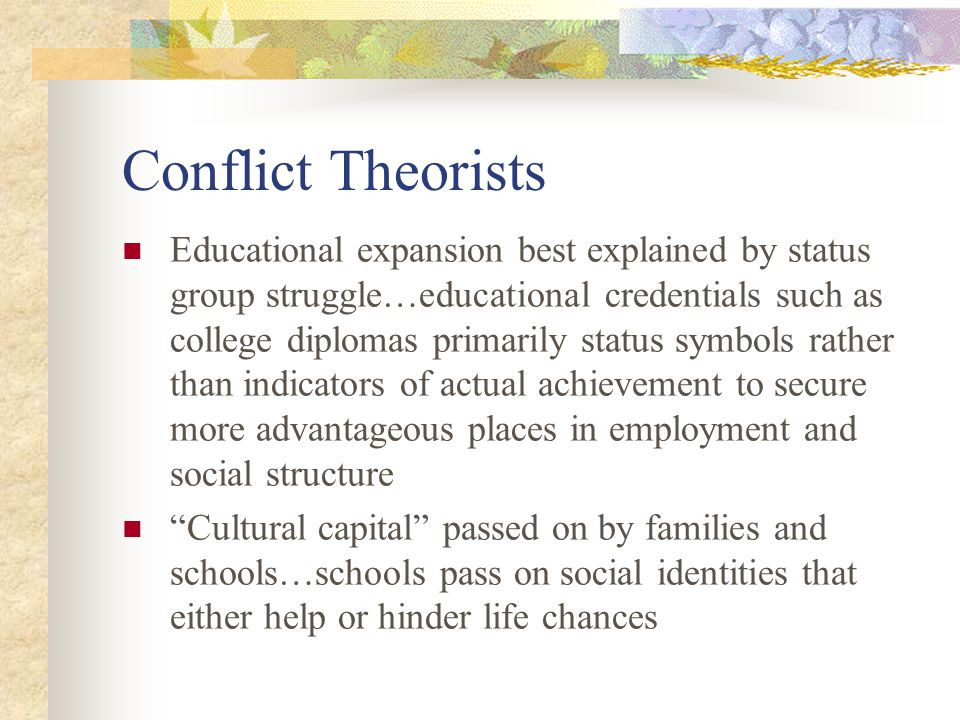 Conflict Theorists
