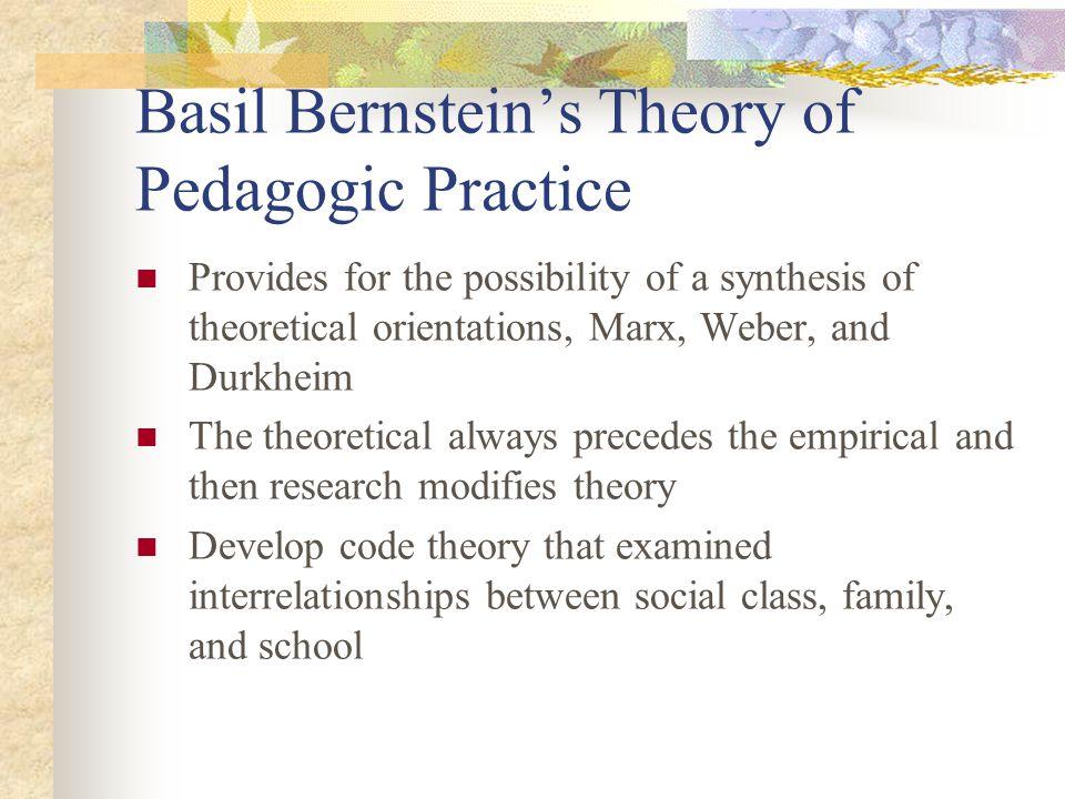 Basil Bernstein's Theory of Pedagogic Practice