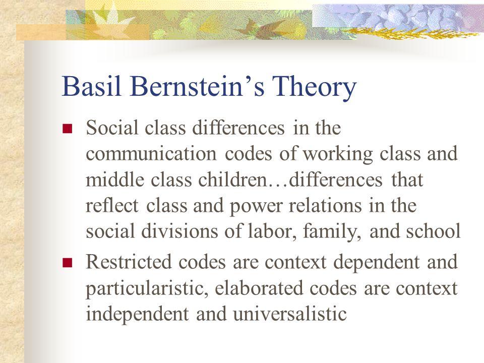 Basil Bernstein's Theory