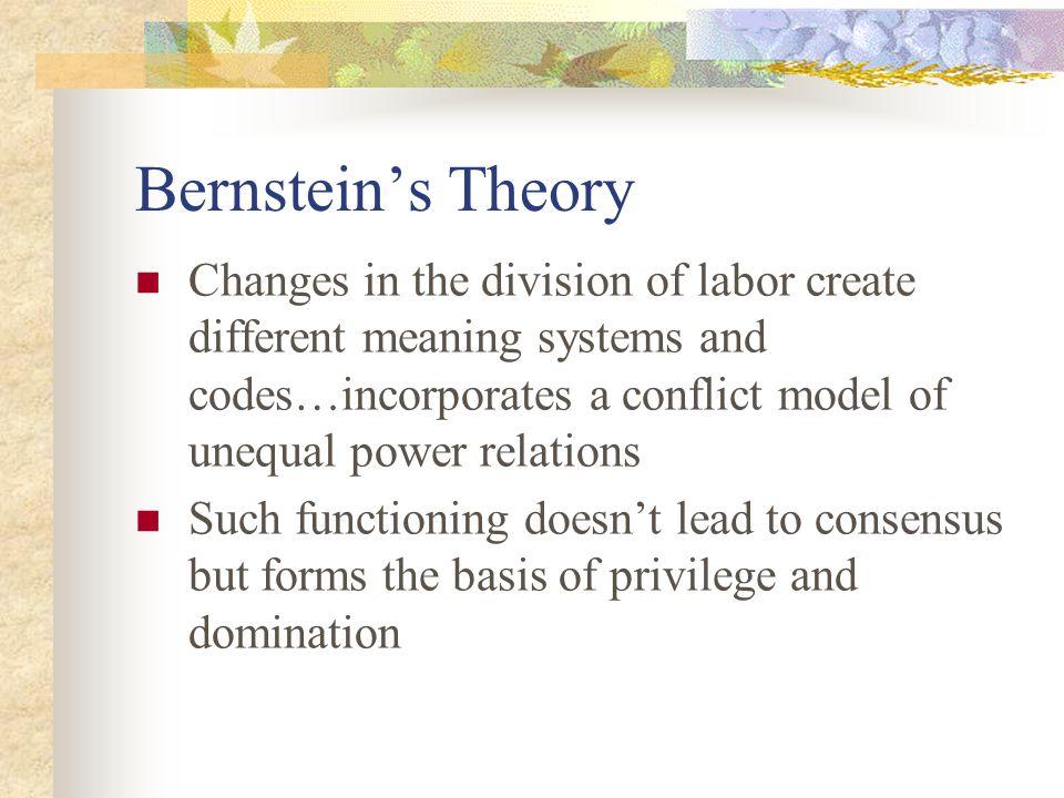 Bernstein's Theory