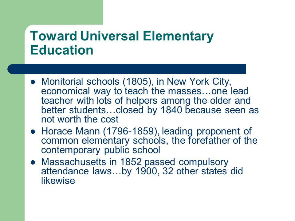 Toward Universal Elementary Education