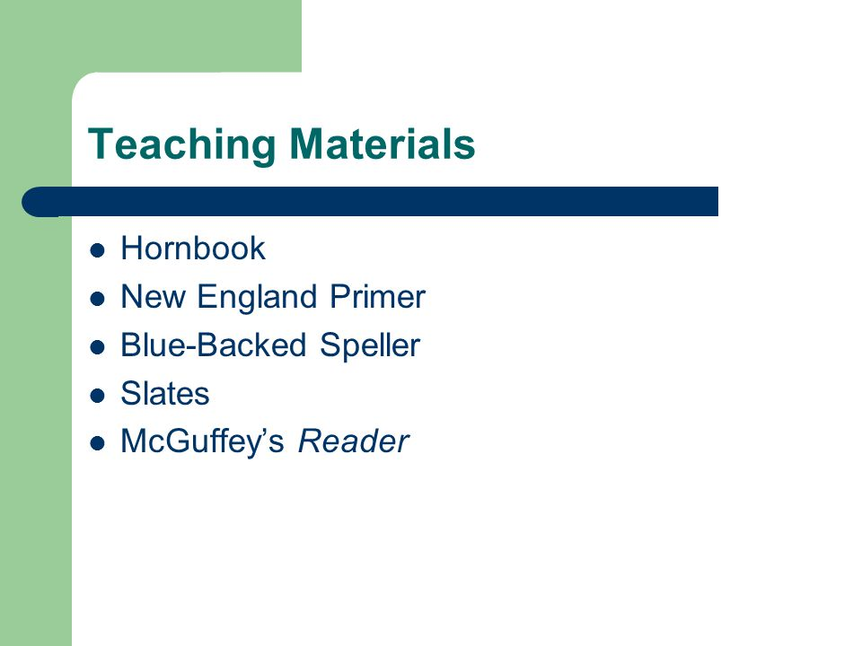 Teaching Materials Hornbook New England Primer Blue-Backed Speller