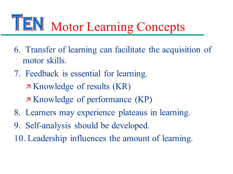 Motor Learning Concepts