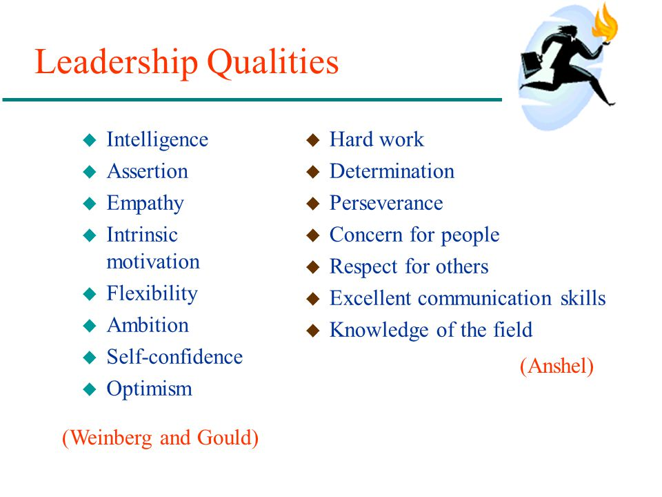 Leadership Qualities Intelligence Assertion Empathy