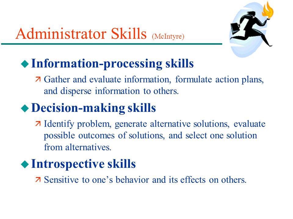 Administrator Skills (McIntyre)