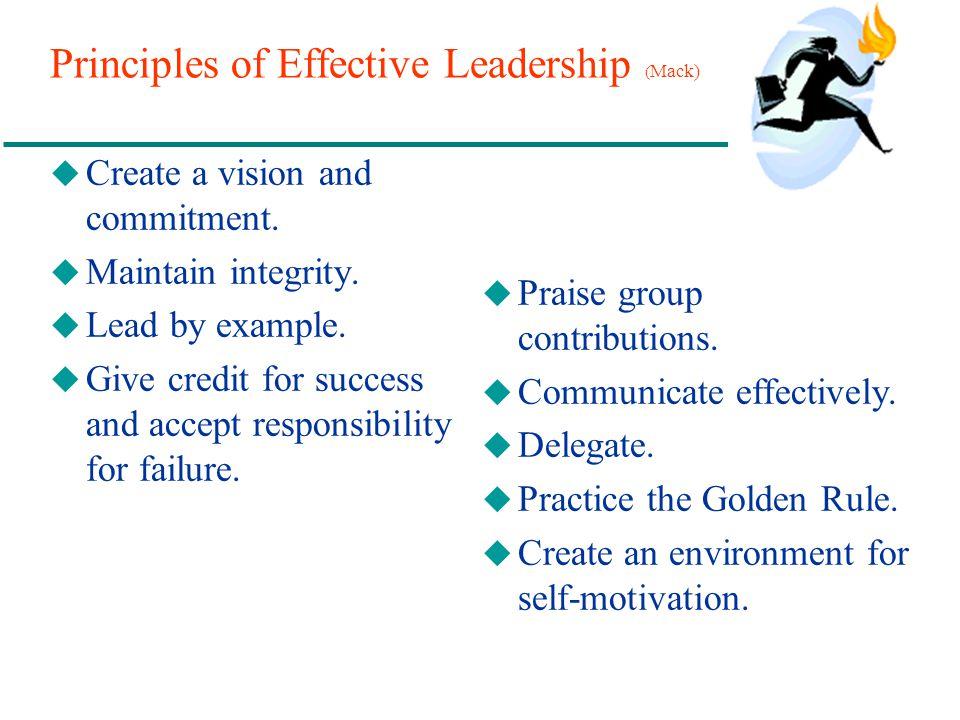 Principles of Effective Leadership (Mack)