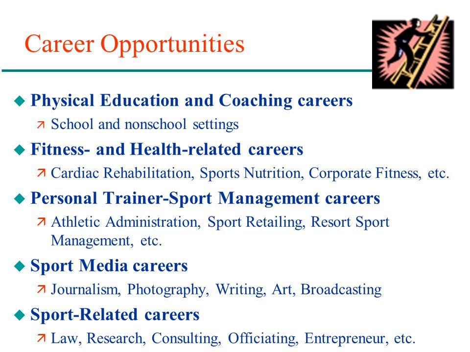 Career Opportunities Physical Education and Coaching careers