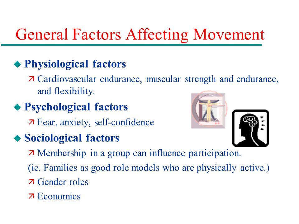 General Factors Affecting Movement
