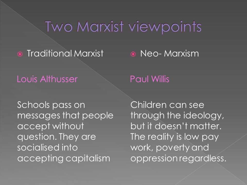 Two Marxist viewpoints