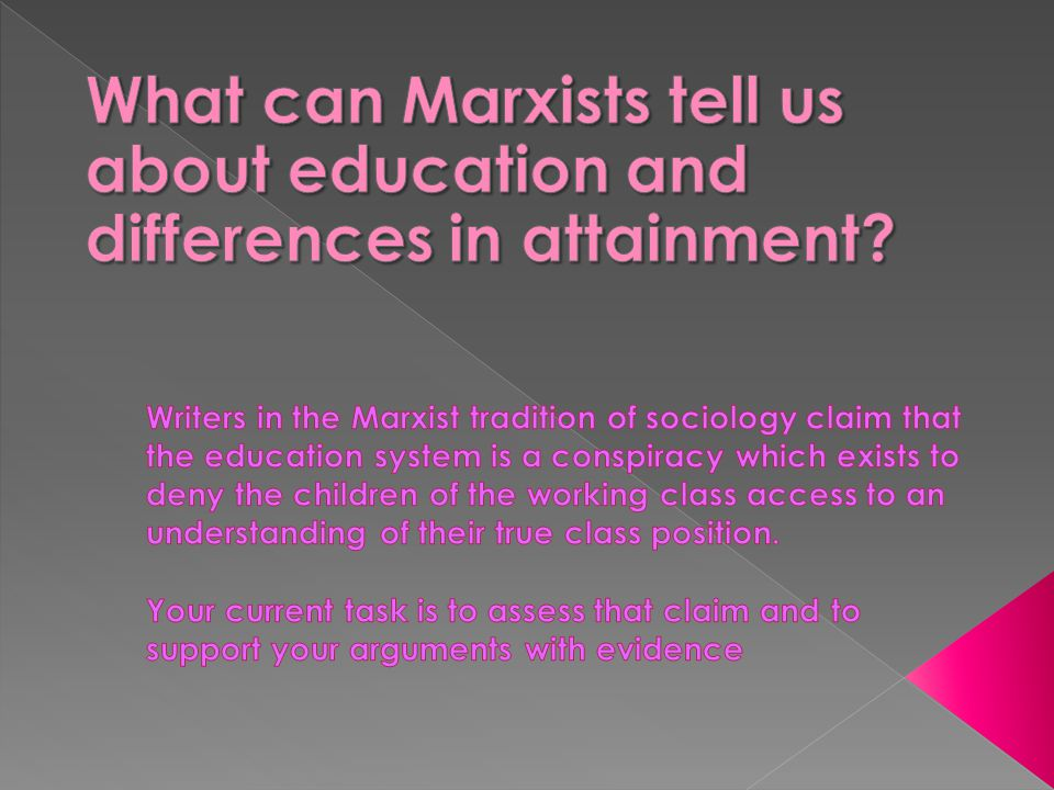 What can Marxists tell us about education and differences in attainment