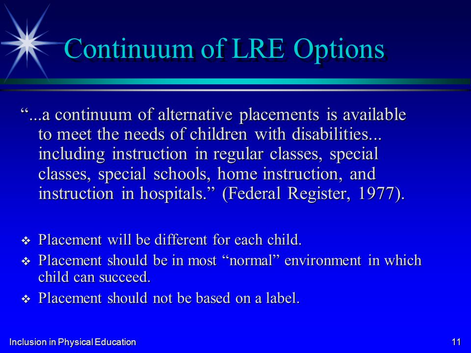 Continuum of LRE Options