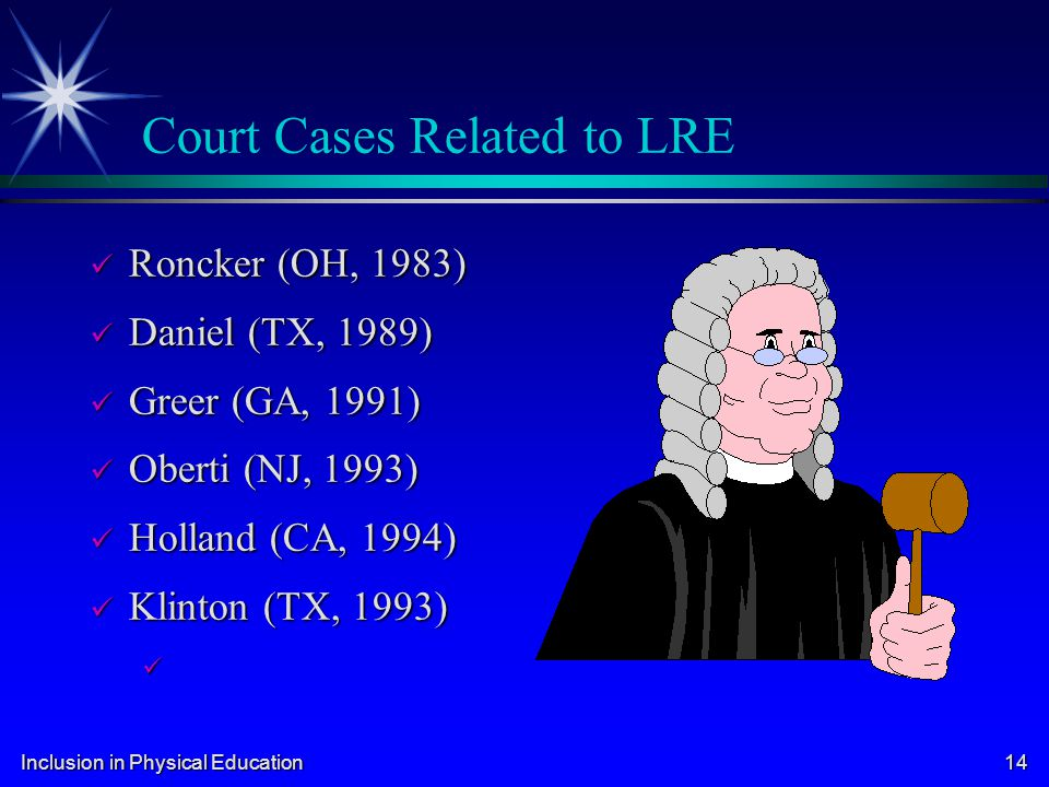 Court Cases Related to LRE
