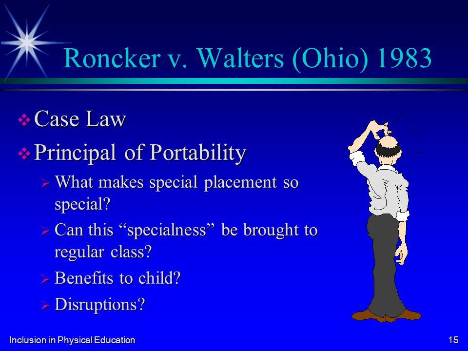 Roncker v. Walters (Ohio) 1983
