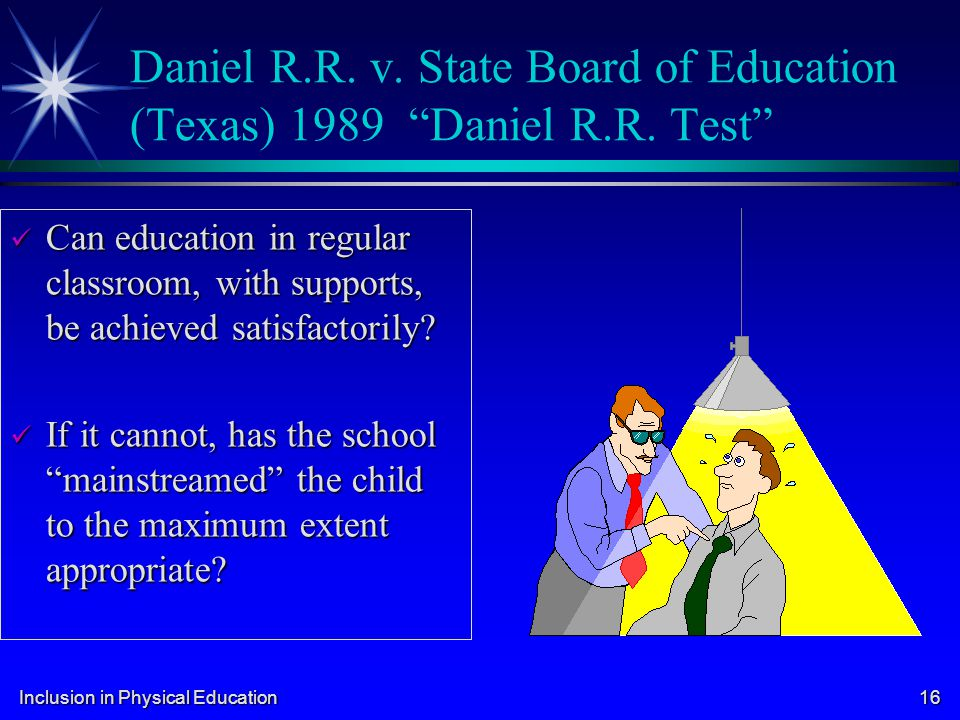 Daniel R. R. v. State Board of Education (Texas) 1989 Daniel R. R