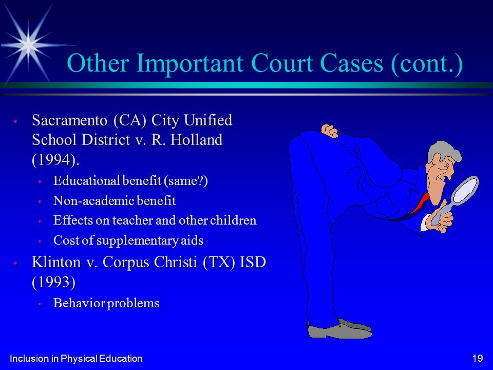 Other Important Court Cases (cont.)