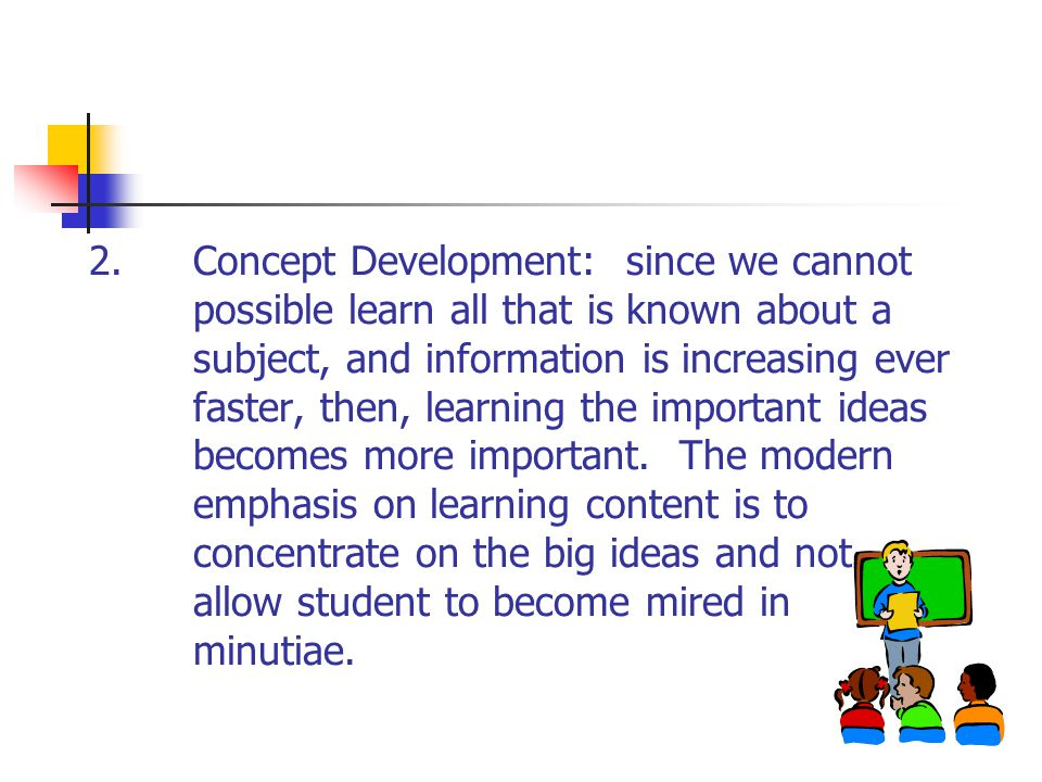 2. Concept Development: since we cannot