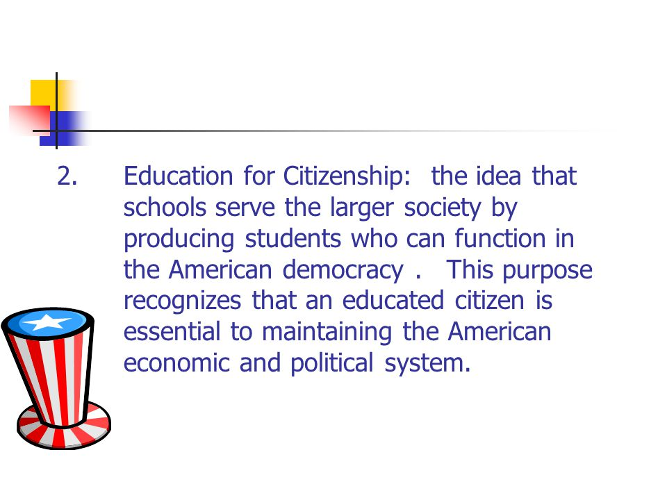 2. Education for Citizenship: the idea that