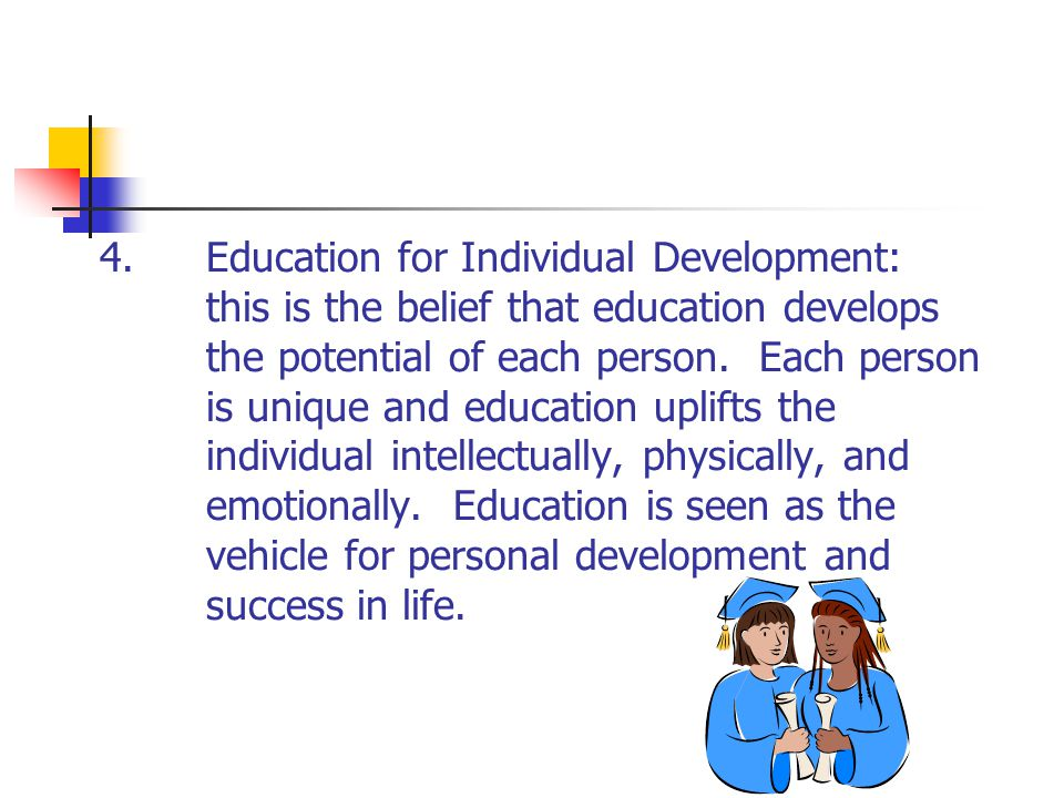 4. Education for Individual Development: