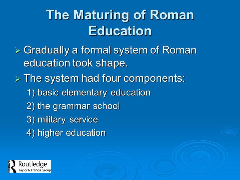 The Maturing of Roman Education