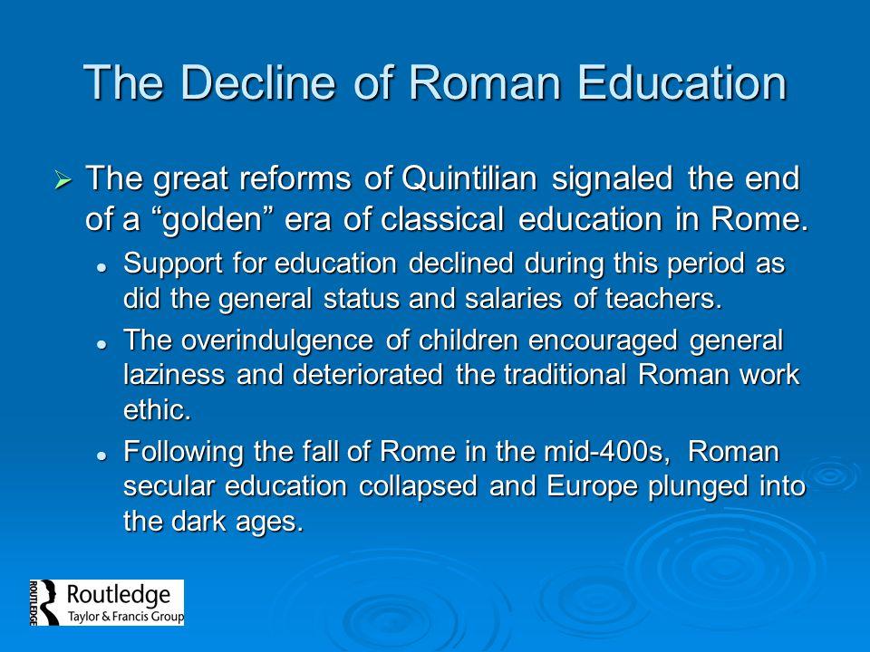 The Decline of Roman Education