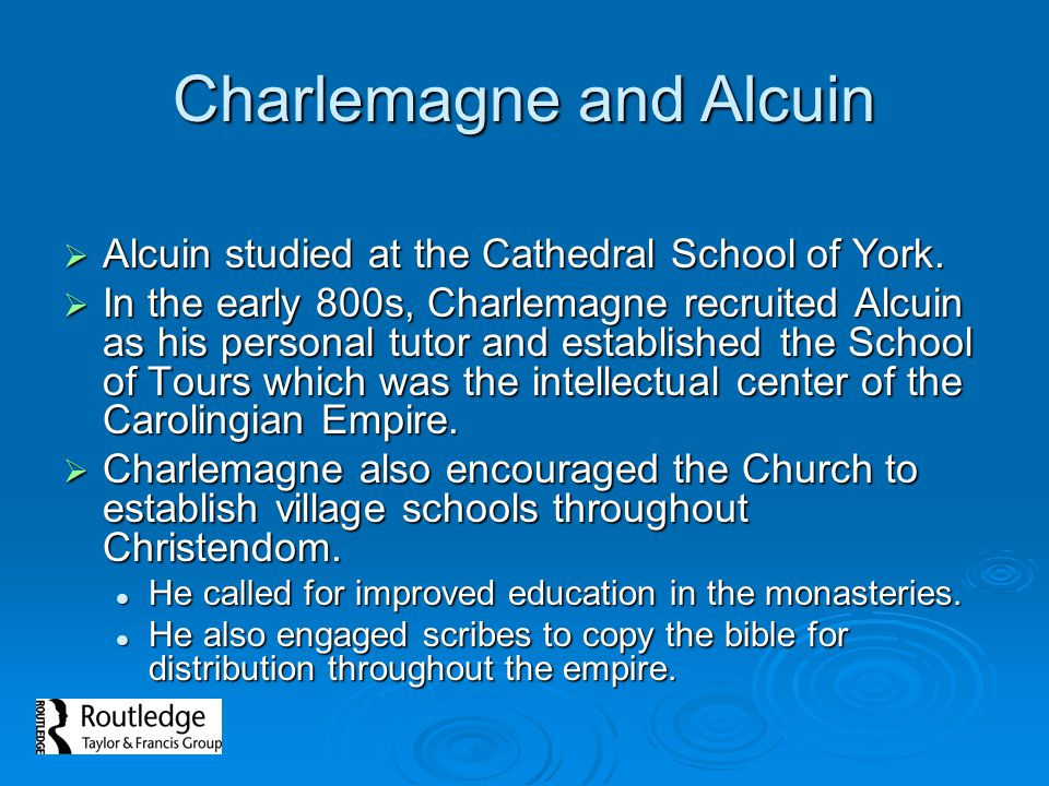 Charlemagne and Alcuin