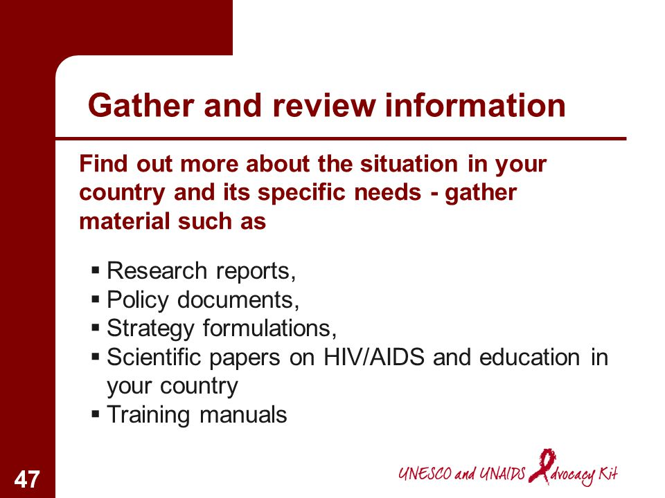 Gather and review information