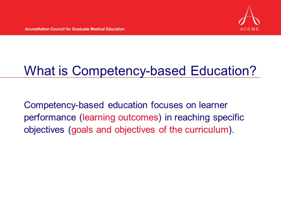 What is Competency-based Education