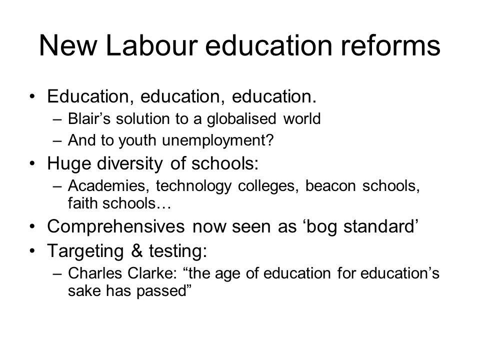 New Labour education reforms