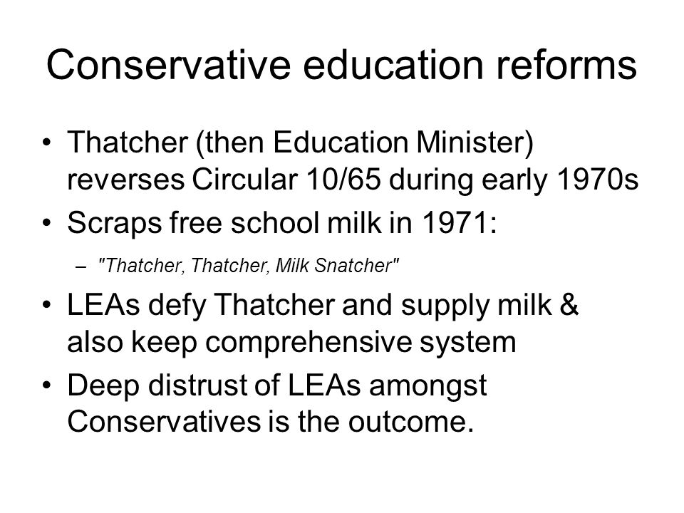 Conservative education reforms