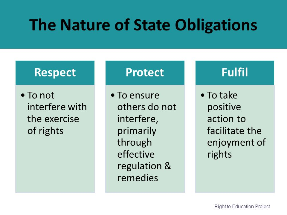 The Nature of State Obligations