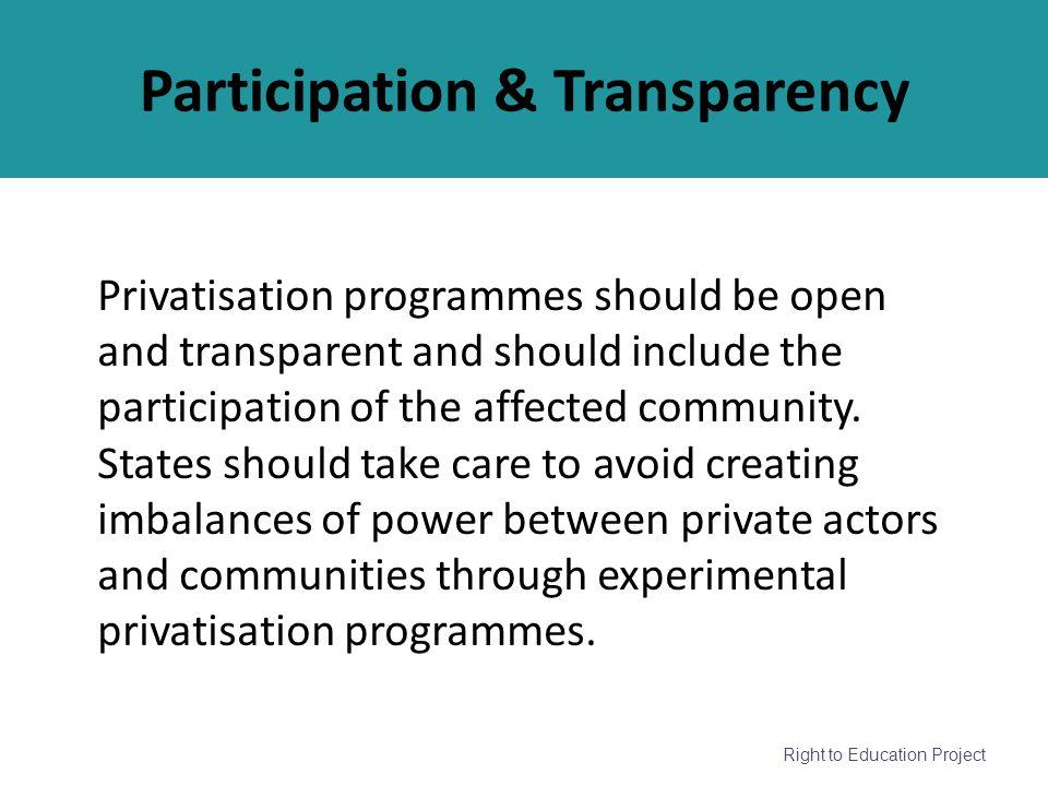 Participation & Transparency
