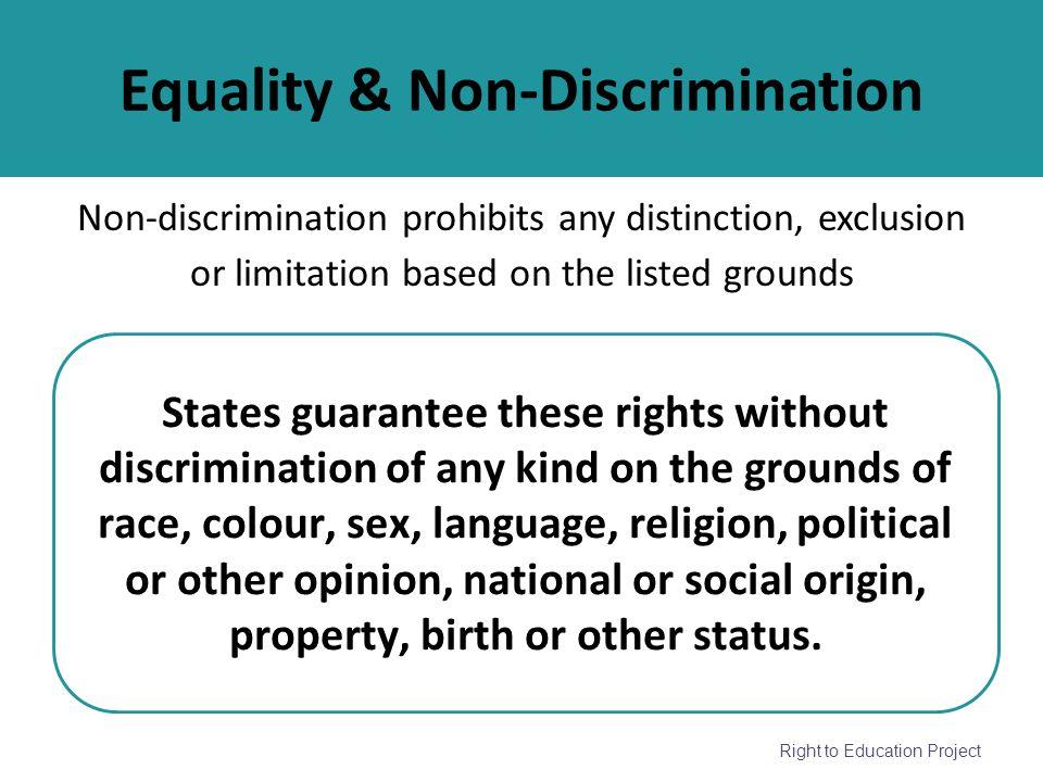 Equality & Non-Discrimination