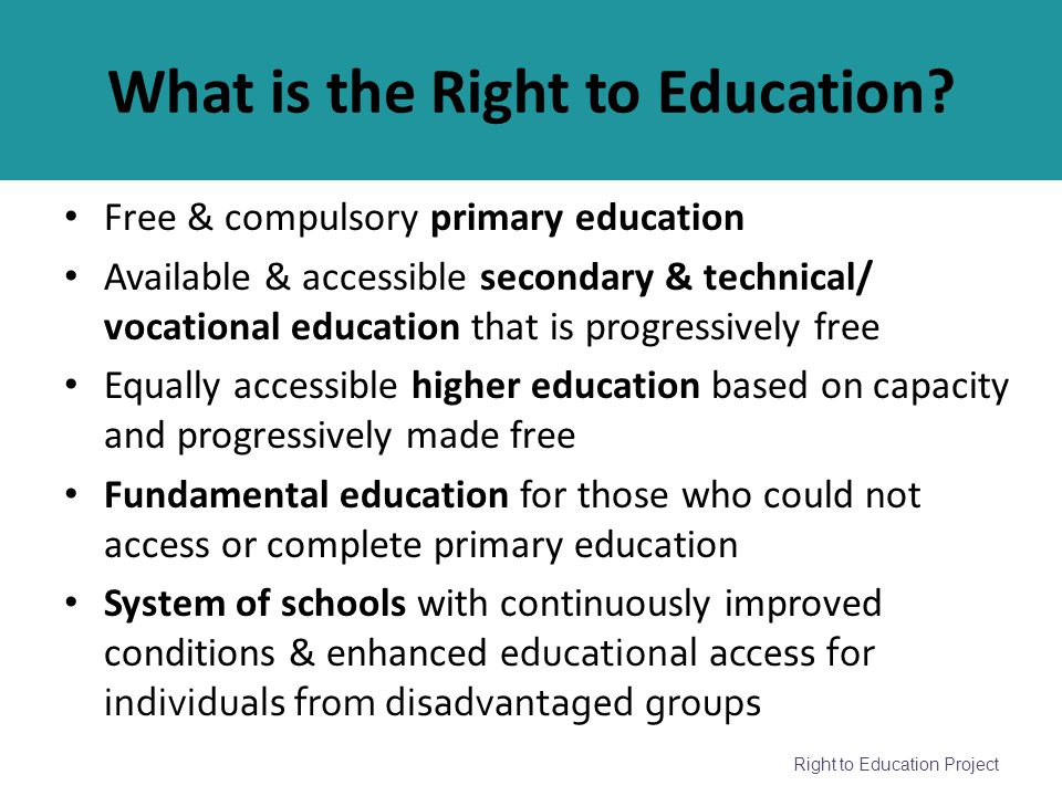 What is the Right to Education