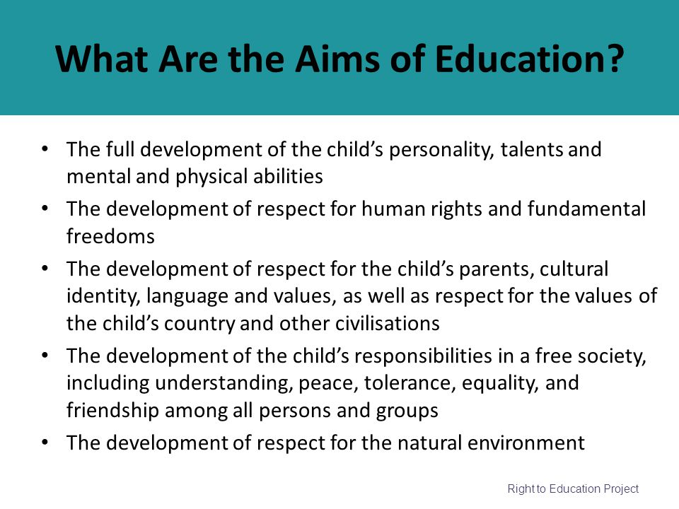 What Are the Aims of Education