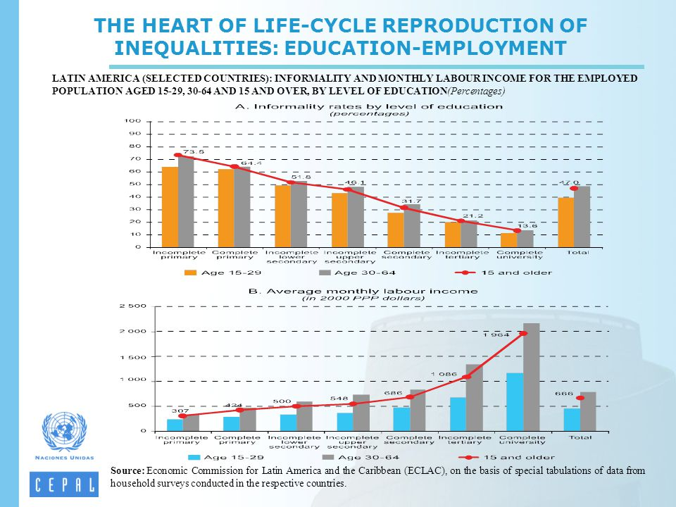THE HEART OF LIFE-CYCLE REPRODUCTION OF INEQUALITIES: EDUCATION-EMPLOYMENT