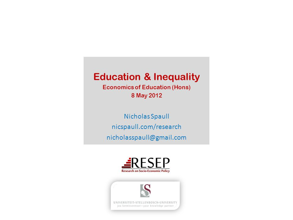 Education & Inequality
