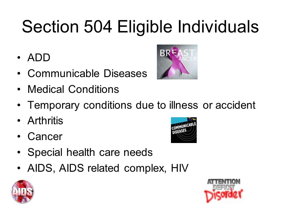 Section 504 Eligible Individuals