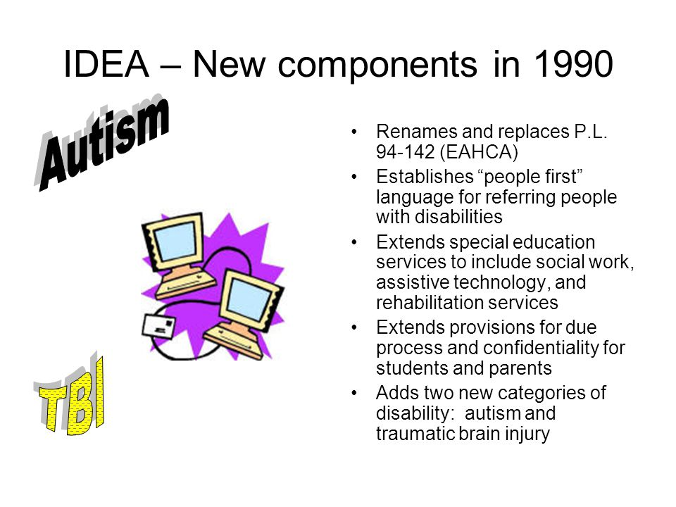 IDEA – New components in 1990